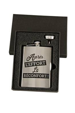 """Coffret Flasque """"Après l'effort le réconfort"""""""